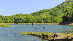 Khanbulan-Reservoir in Lankaran Lizenzfreies Stockfoto