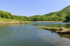 Khanbulan reservoir in Lankaran Royalty Free Stock Images