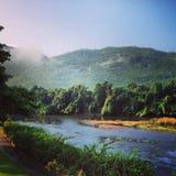 Khanchanaburi landskap Thailand Royaltyfria Foton