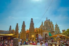 Khandoba Temple. Beautiful Temple in Jejuri called the Khandoba Temple located near Pune Royalty Free Stock Image