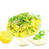 Khandvi克面粉快餐传统印地安食物 免版税库存照片