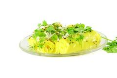 Khandvi Gram Flour Snack traditional Indian food Stock Photo