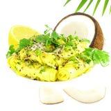 Khandvi Gram Flour Snack traditional Indian food Royalty Free Stock Photos