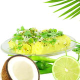 Khandvi Gram Flour Snack traditional Indian food. Khandvi Gram Flour Snack traditional Indian gujrati food stock photo