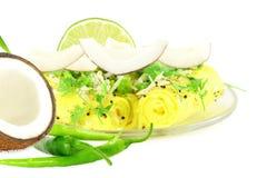 Khandvi Gram Flour Snack traditional Indian food stock image