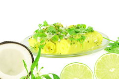 Khandvi Gram Flour Snack traditional Indian food royalty free stock images