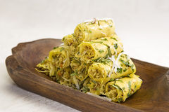 Khandvi. Indian gram flour snack royalty free stock photography