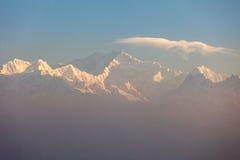 Khangchendzonga range peak Royalty Free Stock Image