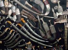 Khanjar汇集阿拉伯古色古香的匕首 图库摄影