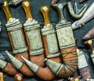 Khanjar阿拉伯antiue匕首 免版税库存图片