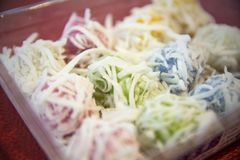 Khanom汤姆-泰国煮沸的甜点 库存图片
