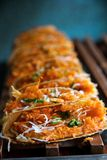 Khanom bueang, kind of Thai sweetmeat Royalty Free Stock Photography