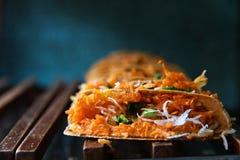 Khanom bueang, sort av thailändsk sweetmeat Arkivbild