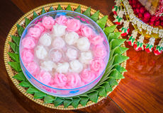 Khanom Chun,Thai dessert Royalty Free Stock Photo