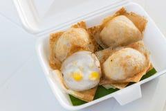 Khanom crok ή ταϊλανδική τηγανίτα καρύδων Στοκ εικόνα με δικαίωμα ελεύθερης χρήσης