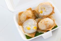 Khanom crok or Thai coconut pancake Stock Images