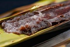 Khanom jaak,Nipa palm dessert, Thai sweetmeat Stock Photos