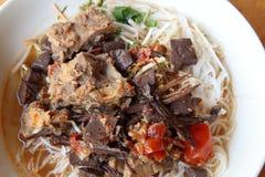 Khanom jin nam ngiao Royalty Free Stock Image