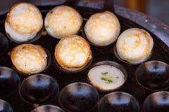 Khanom Khrok, riz au lait de noix de coco photographie stock libre de droits