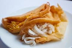 Khanom-thangtaek, thailändische Artsüßspeise. stockfotografie