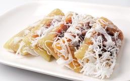 Khanom Tom or Khanom Kho thailand dessert Royalty Free Stock Image