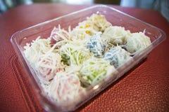 Khanom Tom - thailändsk kokt sötsak Fotografering för Bildbyråer