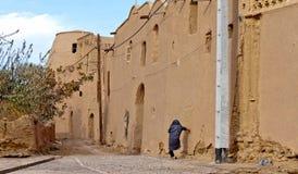 Khanrnaq的,伊朗被放弃的村庄 免版税库存照片