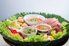 Khantoke. Khantoke dinners have long been a popular tourist attr Stock Image