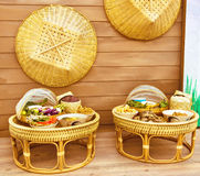 Khantoke Thailand dinners. Dinners have long been a popular tourist attraction in areas of Northern Royalty Free Stock Photo