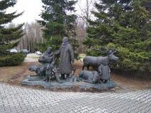 Khanty familj royaltyfri foto