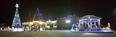 Khanty-Mansiysk中心广场  免版税库存照片