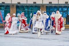 KHANTY-MANSIYSK - el 12 de diciembre de 2017: Khanty-Mansiysk - capital del ` s del Año Nuevo de Rusia Congreso de Todo-Rusia de  Fotografía de archivo libre de regalías