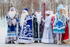 Khanty-MANSIYSK - op 12 DECEMBER, 2017: Khanty-Mansiysk - nieuwe jaar` s hoofdstad van Rusland Congres alle-Rusland van vadersvor Stock Foto's