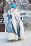 Khanty-MANSIYSK - op 12 DECEMBER, 2017: Khanty-Mansiysk - nieuwe jaar` s hoofdstad van Rusland Congres alle-Rusland van vadersvor Royalty-vrije Stock Foto