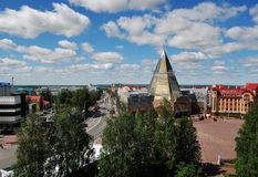 KHANTY-MANSIYSK, RUSSIA � JUNE 30, 2014: general view of city Royalty Free Stock Photo