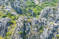 Khao山姆Roi Yot国家公园岩石  免版税图库摄影