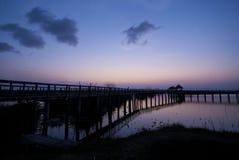 Khao山姆Roi Yot国家公园,泰国黄昏天空  图库摄影