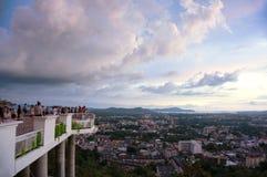 Khao日落敲响了小山,普吉岛 免版税库存图片