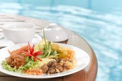 Khao Chae, Tajlandzki jedzenie Obraz Royalty Free