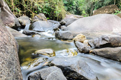 Khao chamao waterfall. Soft waterfall in Rayong, THAILAND royalty free stock photos