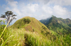 (Khao Chang Puak) Mountains and jungle in Thailand. royalty free stock image