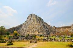 Khao Chee Chan et laser d'or de Bouddha a découpé, Sattahip, Chonburi, Thaïlande Image libre de droits