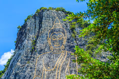 Khao Chee Chan the largest Buddha carved in the world Royalty Free Stock Photography