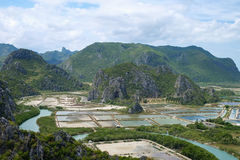 Khao Dang widoku punkt przy Sam Roi Yod parkiem narodowym Obrazy Stock