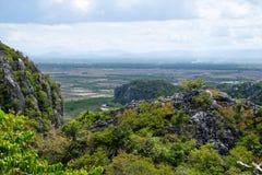 Khao Dang widoku punkt przy Sam Roi Yod parkiem narodowym Obrazy Royalty Free