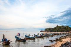 Khao Kao Seng A pittoresk beachfront muslimsk fiskevillege Nakorn, Arkivbilder