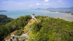 khao khad普吉岛泰国鸟瞰图  库存照片