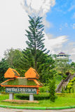 Khao-Khad Views Tower (translated from signboard) is another pop. Ular view point among tourists. They always make a visit to capture the impressive scenery at Royalty Free Stock Photo