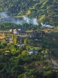 Khao Kho在Phetchabun,泰国的山景 图库摄影