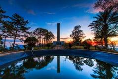 Khao Kho minnesmärke i det Phetchabun landskapet av Thailand Arkivfoto